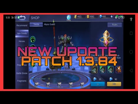 NEW UPDATE - PATCH NOTE - 1.3.84