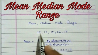 Mean median mode and range ll statistics ll central tendency easy way class 9 cbse