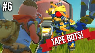 SHOOTING TAPEBOTS WITH NEW SPUDGUN!! - SCRAP MECHANICS SURVIVAL #6