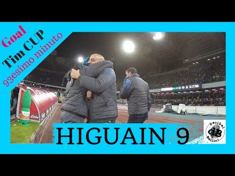 coppa italia: esplode lo stadio al gol di gonzalo higuain napoli-inter