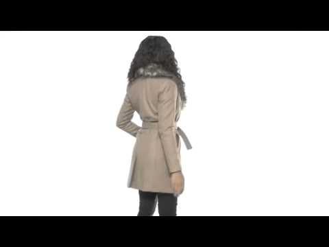 MICHAEL Michael Kors - Wool Melton Wrap Coat w/ Faux Fur  SKU : # 8063247