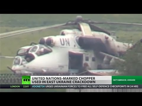 Ukrainian military uses UN marked helicopters in eastern Ukraine
