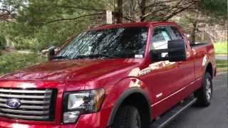 2012 Ford F-150 Eco-Boost Review, Walk Around, Start Up&Rev, Test Drive