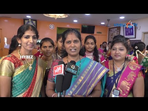 , Ugadi Celebrations in kanyaka parameswari college