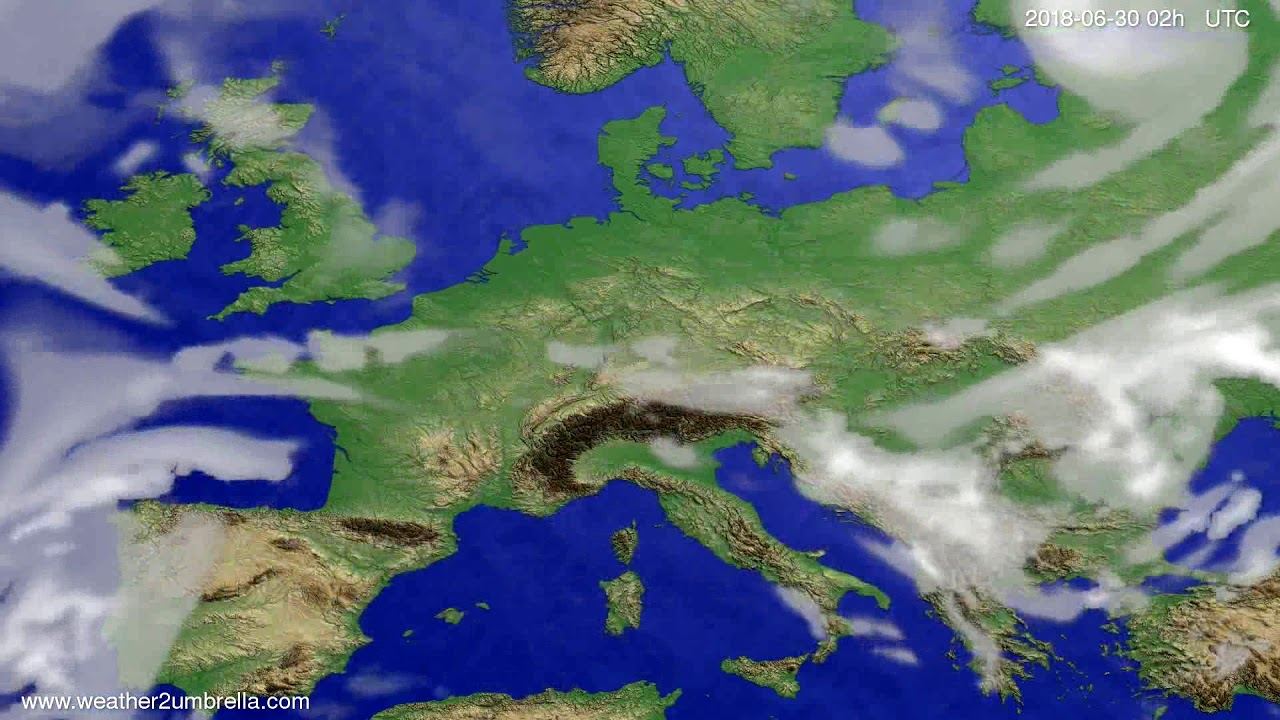 Cloud forecast Europe 2018-06-26