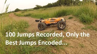 Massive, Insane, and Crazy jumps are in this video! I'm so impressed with this Brushless VKAR Racing Bison at my local dirt jump track, nothing broke, nothing went wrong, and I had really long run times too! This is the V2 model with front and rear lighting, the RC isn't slow either.I total the truggy coped with over 100 jumps and bumps today, I ran it on 2 x 4000mah 3s lipos which gave me an hour and 15 minutes run time. (Recording time) and I had a real blast filming this for you guys.This RC comes complete with 3s lipo and charger, 2.4ghz radio system, and metal shock caps/towers as standard. This RC also has built in front and rear LED lighting for added coolness. If you wish to purchase this VKAR Racing Bison RC Truggy, click here:http://bit.ly/2ohnmFQThe RC Deals page is here:http://bit.ly/2nlfNJo18% off All RC products use Promo Code:RC18offSpecifications:ESC: 120A brushlessMotor: 3670 brushlessServo: 9gBattery: 11.1V 3500mAh 25C LiPo ( built-in )Charging time: 5 - 6hRacing time: 20 minutesWheelbase: 330mmChannels: 2Frequency: 2.4GHzControl distance: 200mTransmitter battery: 4 x 1.5V AA ( not included )Product size: 532 x 380 x 190mmProduct weight: 3.76kgAll Radio Control videos playlist is here: https://www.youtube.com/playlist?list=PLXw8lBDqbFIJ82wK6Wp_pk8YXOR3a5gNGThanks for watching, please like, subscribe, and share these videos and I'll see you next time.Jake Billing on Youtube Facebook Page Here: https://www.facebook.com/jakebillingonyoutube
