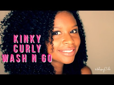 The Wash N Go Series: Kinky Curly Curling Custard Tutorial