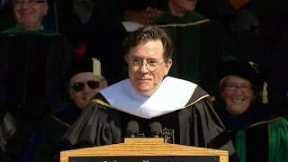 Video Stephen Colbert gives a funny farewell to Wake Forest University class of 2015 MP3, 3GP, MP4, WEBM, AVI, FLV September 2018