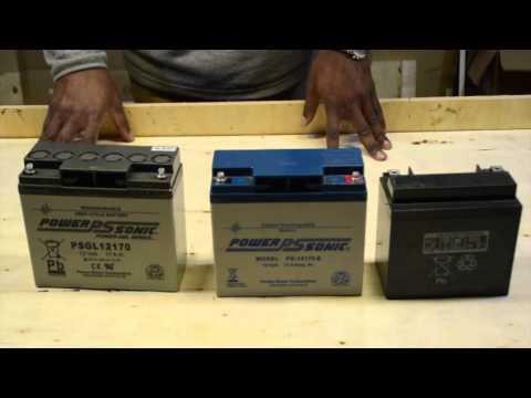 Batterie AGM et GEL