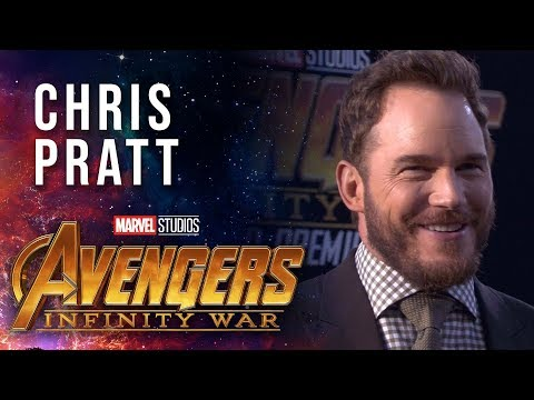 Vengadores: Infinity War - Chris Pratt Live at the Avengers:Infinity War Premiere?>