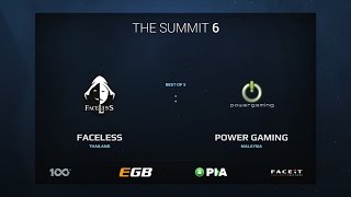 Faceless vs Power Gaming, Game 1, The Summit 6 Qualifiers, SEA