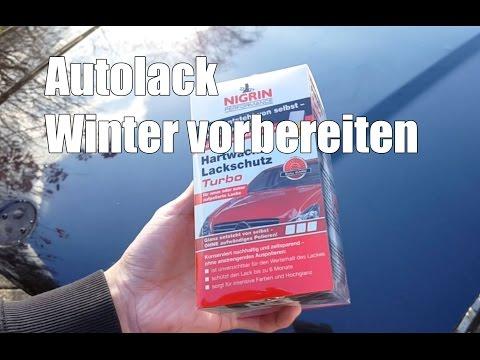 Autolack für den Winter vorbereiten - Nigrin Hartwachs Lackschutz Turbo Test