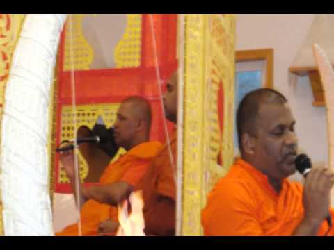 Ven Galagodaaththe Gnanasara Thero on the Opening Chanting at Indiana Buddhist Temple