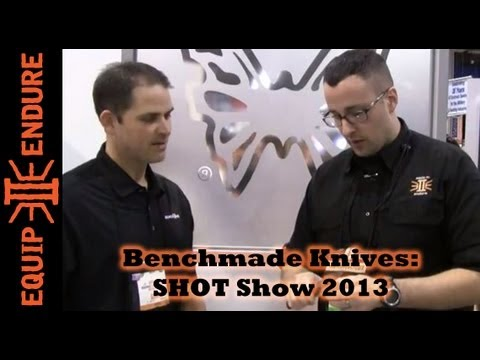 benchmade - Adam visits the Benchmade Booth at SHOT Show 2013 in Las Vegas. Jason from Benchmade introduces a few newly released blades as well as some new/improved blad...