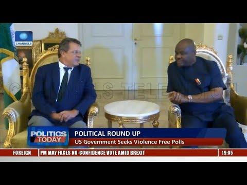 Political Round-Up: US Govt Seeks Violence Free Polls |Politics Today|