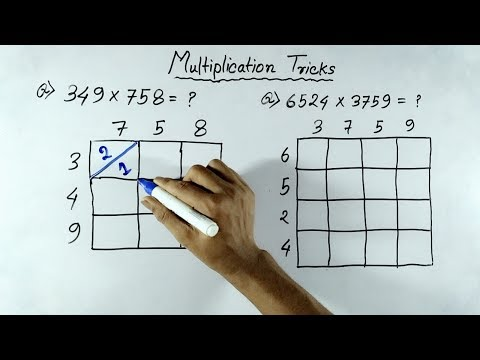 Fast Multiplication Tricks of any Numbers (In Hindi) | Multiplication shortcut Tricks (видео)