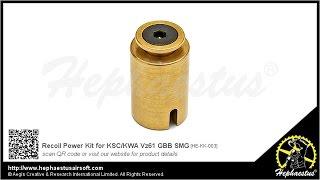 Hephaestus Recoil Power Kit for KSC/KWA Vz61 GBB SMG