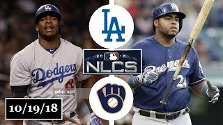 Los Angeles Dodgers vs Milwaukee Brewers Highlights || NLCS Game 6 || October 19, 2018