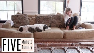 Homeschool Morning Routine | Five Minute Family Vlog 2