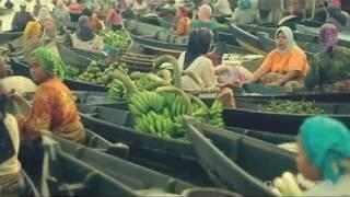 Banjarmasin Indonesia  city images : Pasar Terapung Banjarmasin - Indonesia Floating Market HD