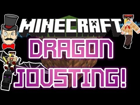 Minecraft Mods - ENDER DRAGON JOUSTING Battle ! PVP Dragons in Royal SMP Fight !