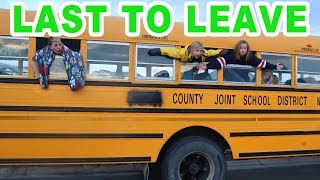 LAST TO LEAVE THE SCHOOL BUS WINS $$$ CHALLENGE