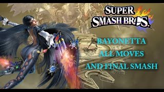 Bayonetta All Moves & Final Smash!