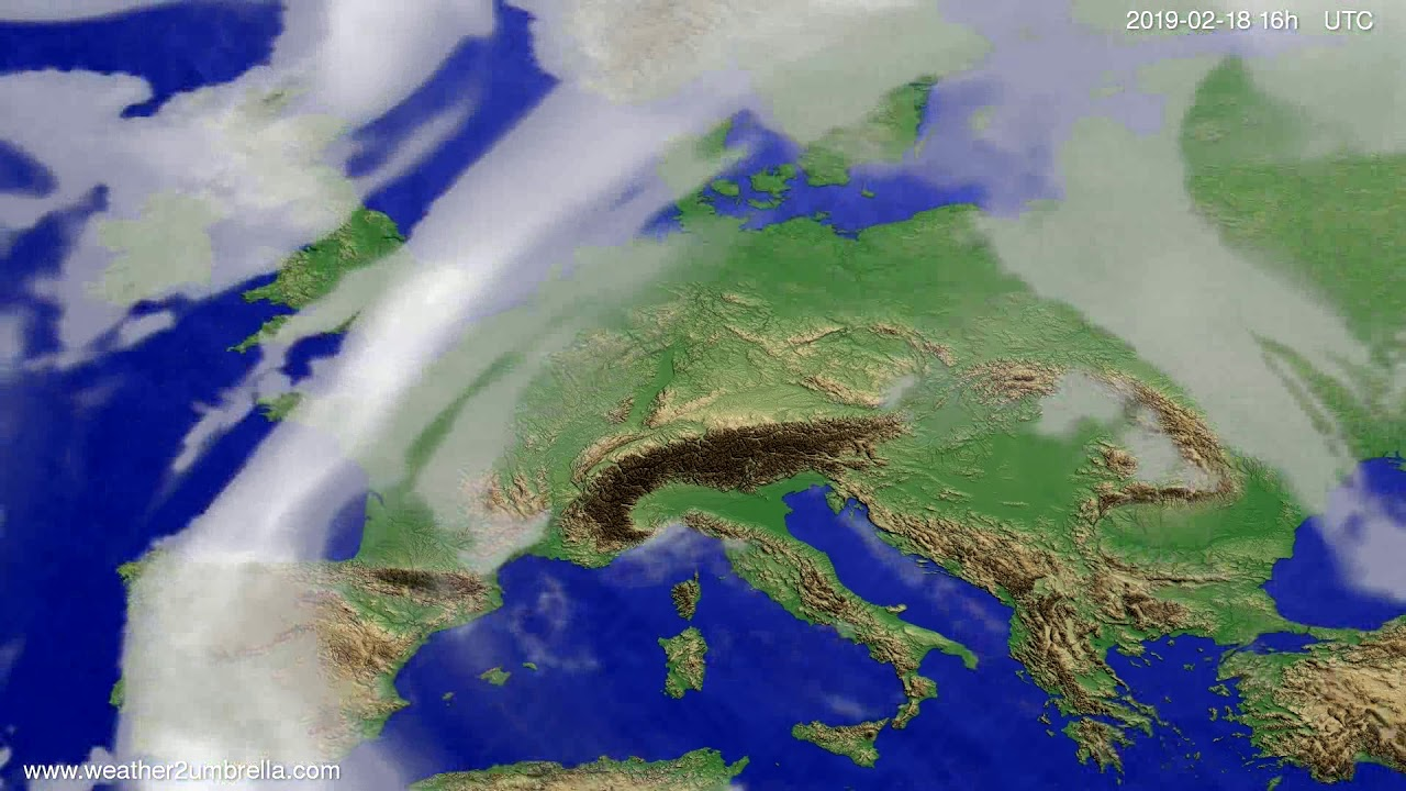 Cloud forecast Europe 2019-02-17