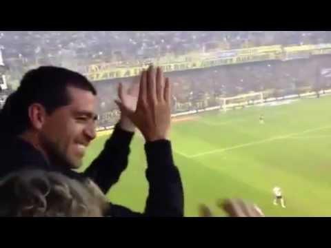 Riquelme cantando Riber decime que se siente ♪ Boca vs River 2/05/13 - La 12 - Boca Juniors