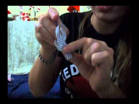 Como fazer mini gravatinhas video aula
