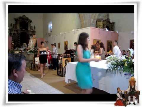 Los Charritos De Salamanca. Fiestas Calvarrasa de Arriba, Ofrenda de los Quintos en la misa.