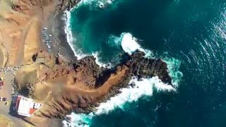 Montage of magnificent aerial views of Tenerife and Lanzarote. © 2015 www.sandipde.com Facebook: fb/sandipdephotography...