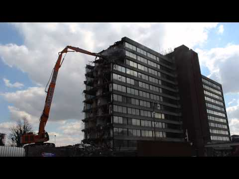 High reach demolition in Manchester, UK, part 2.