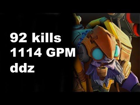 Dota 2 Tinker 92 Kills Full VOD