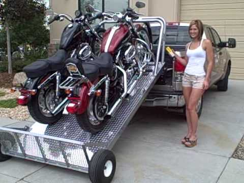 Loading up Two Harley's The Easy Way - Elevation Trailers