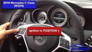 2014 Mercedes C Class (W204) Oil Light Reset /  Service Light Reset