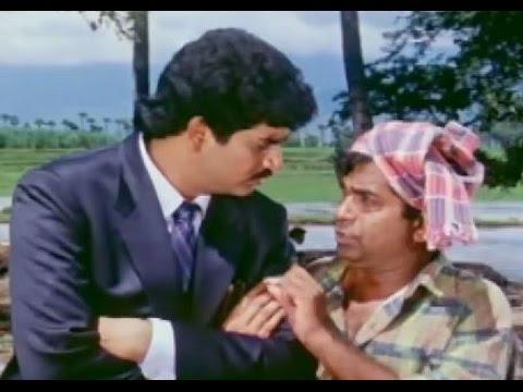 Alluda Majaka Movie Scenes - Chiranjeevi keeps funny tests to Chinna - Ramya Krishna, Ramba