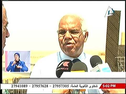وزير النقل يتفقد سير العمل بطريق القاهرة / السويس