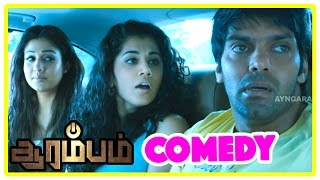 Video Arrambam full movie comedy scenes | Arrambam | Thala Ajith | Arya | Nayanthara | Tamil comedy scenes MP3, 3GP, MP4, WEBM, AVI, FLV Desember 2018