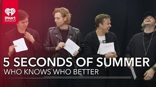 Video Can 5 Seconds Of Summer Name All Their Dogs? | Who Knows Who Better MP3, 3GP, MP4, WEBM, AVI, FLV Maret 2019