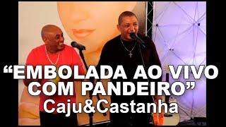 Caju e Castanha fazem Embolada ao vivo com pandeiro no Programa Eliane Camargo exibido dia 30 de abril de 2017 no Canal do boi.