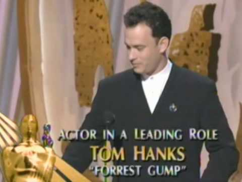 Tom Hanks - Holly Hunter presenting the Best Actor Oscar® to Tom Hanks for his performance in