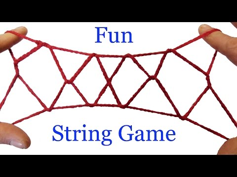 String Tricks! How To Do The Jacob's Ladder String Figure Step By Step