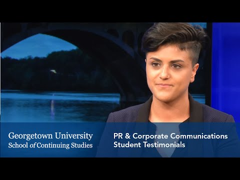 Master's in PR and Corporate Communications: Student Testimonials
