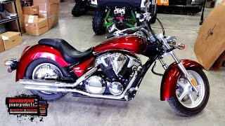 6. 215005A, 2010 Honda VT1300CRA Stateline ABS, Red, For Sale At Adventure Power Products