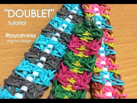 DOUBLET Rainbow Loom bracelet tutorial (Original Design)
