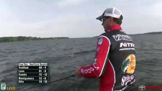 KVD fishing live on Championship Sunday Toledo Bend 2016 - part 3