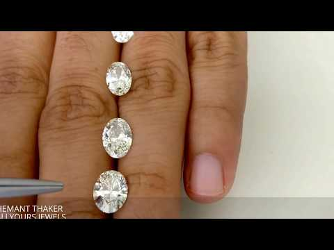 oval shape diamond size compare on hand 1ct upto 2ct