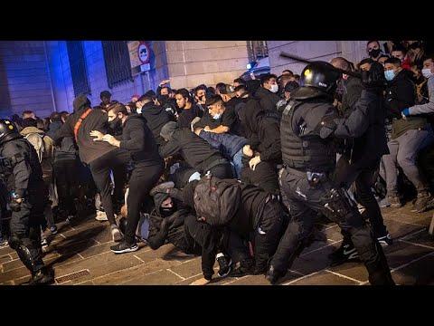 Covid-19:Επεισόδια στη Βαρκελώνη λόγω επιβολής του lockdown