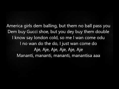 DMW - 'AJE' feat. Davido, Yonda, Peruzzi & Fresh VDM (Official Lyrics)